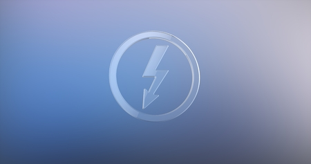 icon 3d: Lightning Shock Glass 3d Icon