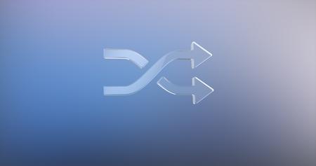 icon 3d: Random Shuffle Glass 3d Icon