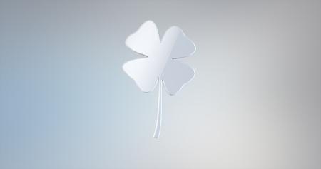 lucky clover: Lucky Clover White 3d Icon
