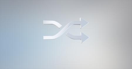 icon 3d: Random Shuffle White 3d Icon Stock Photo