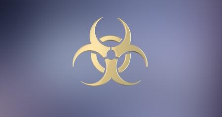 icon 3d: Biohazard Gold 3d Icon