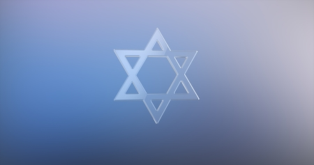 Star of David Glass 3d Icon