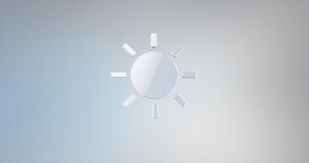 icon 3d: Sun Weather White 3d Icon