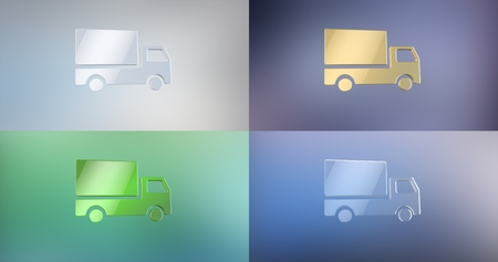 icon 3d: Delivery Truck 3d Icon Stock Photo