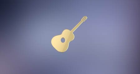 icon 3d: Guitar Classic Gold 3d Icon