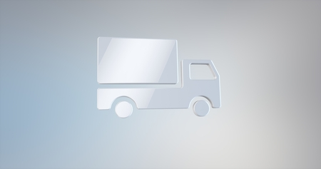 icon 3d: Delivery Truck White 3d Icon