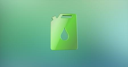 color 3d: Petrol Fuel Can Color 3d Icon