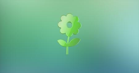 icon 3d: Flower Color 3d Icon