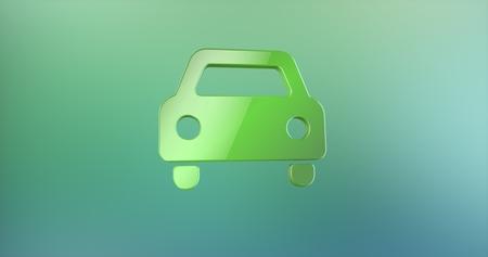 icon 3d: Car Front Color 3d Icon