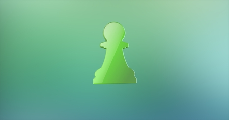 icon 3d: Chess Pawn Color 3d Icon