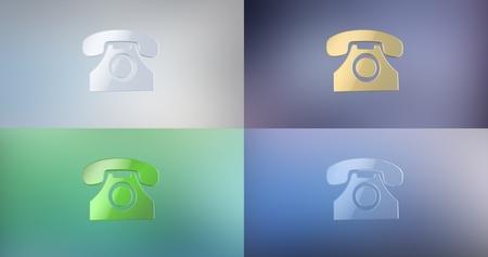 icon 3d: Retro Telephone 3d Icon
