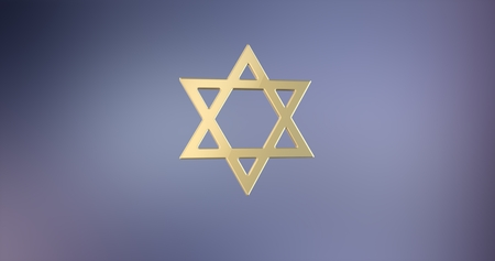 Star of David Gold 3d Icon