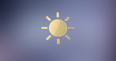 icon 3d: Sun Weather Gold 3d Icon