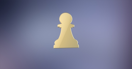 icon 3d: Chess Pawn Gold 3d Icon