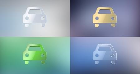 icon 3d: Car Front 3d Icon
