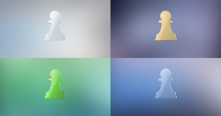 icon 3d: Chess Pawn 3d Icon Stock Photo