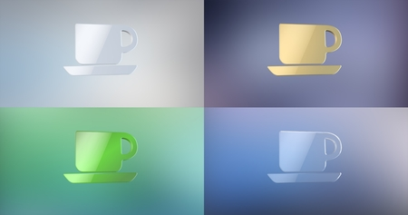 icon 3d: Office Mug 3d Icon Stock Photo