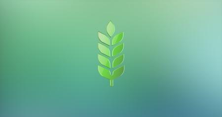 icon 3d: Wheat Color 3d Icon Stock Photo