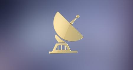 icon 3d: Sattelite Gold 3d Icon