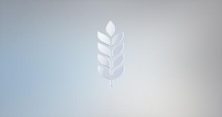 icon 3d: Wheat White 3d Icon