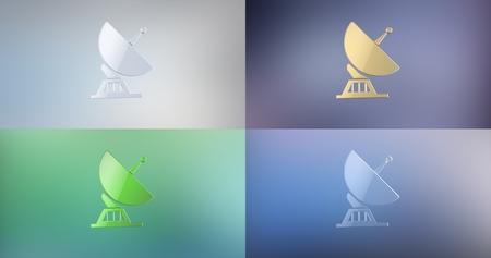 icon 3d: Sattelite 3d Icon