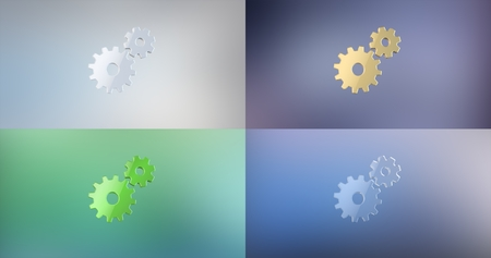 working: Working Gears 3d Icon Stock Photo