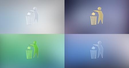 icon 3d: Trash Man 3d Icon Stock Photo