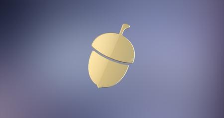icon 3d: Acorn Nut Gold 3d Icon