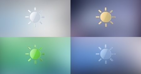 icon 3d: Sun Weather 3d Icon Stock Photo
