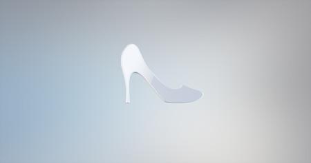 icon 3d: Heel White 3d Icon