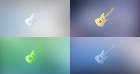 icon 3d: Guitar Electric 3d Icon Stock Photo