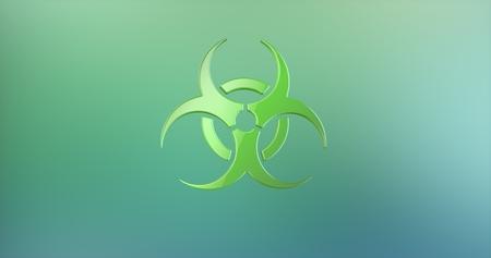 icon 3d: Biohazard Color 3d Icon