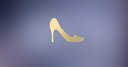 icon 3d: Heel Gold 3d Icon