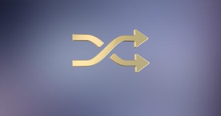 icon 3d: Random Shuffle Gold 3d Icon