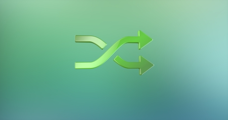 icon 3d: Random Shuffle Color 3d Icon Stock Photo