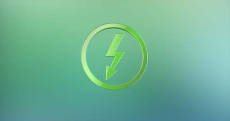 icon 3d: Lightning Shock Color 3d Icon