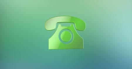 color 3d: Retro Telephone Color 3d Icon