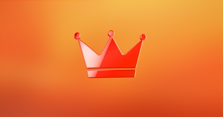 rende: Crown Red 3d Icon
