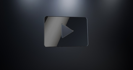 s video: Video Play Black 3d Icon Stock Photo