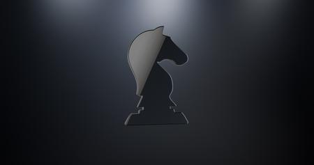 chessman: Dark Knight Black 3d Icon