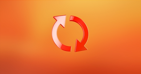 Refresh Red 3d Icon