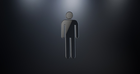 users video: Man Black 3d Icon