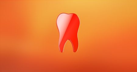 Tooth Red 3d Icon