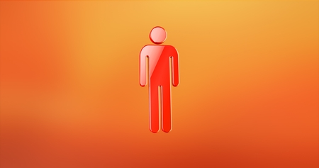 users video: Man Red 3d Icon