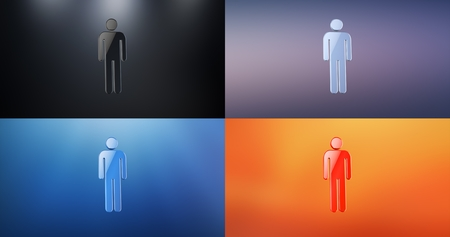 users video: Man 3d Icon