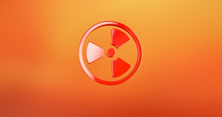 Radiation Red 3d Icon Stock Photo
