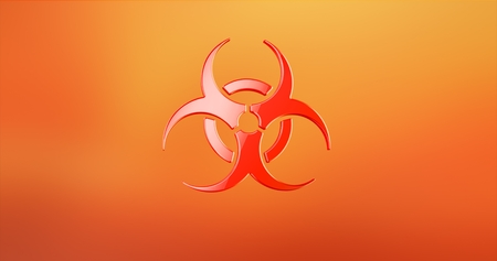 Biohazard Red 3d Icon