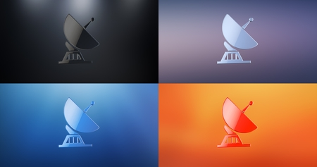 sattelite: Sattelite S 3d Icon