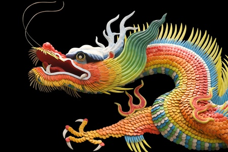 china dragon: Asian temple dragon