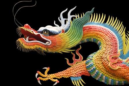 Asiatischen Tempel Drachen